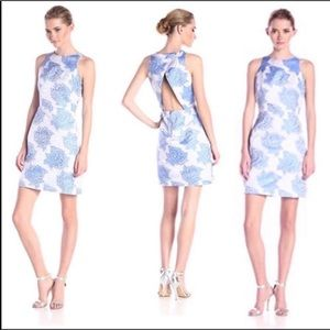 Adrianna Papell blue floral formal party dress 10